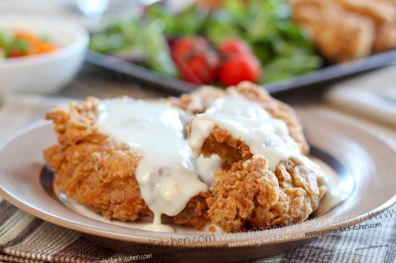 Crispy Fried Chicken With American Style Gravy Recipe