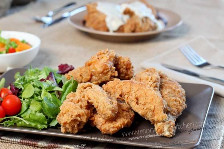 chicken fry kfc recipe gravy