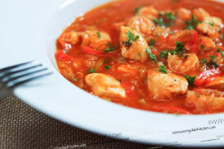 chicken and prawn in creole sauce