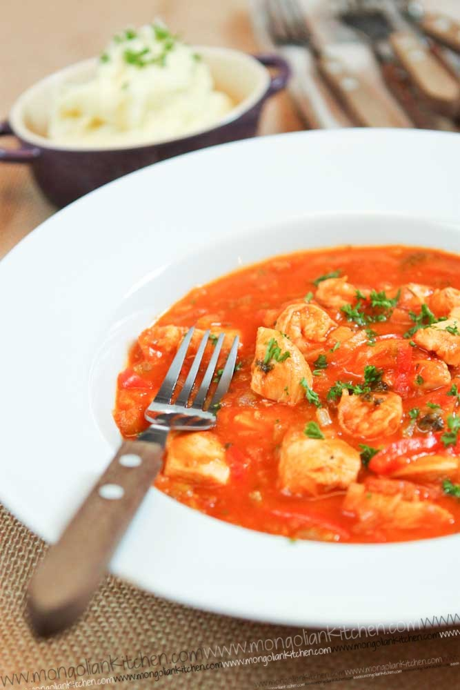 chicken and prawn in creole sauce recipe