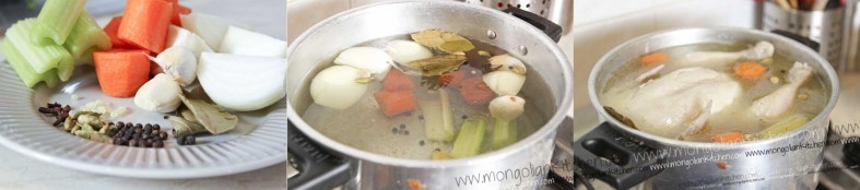 boil the chicken sharkaseya to make the stock