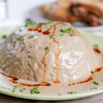 Circassian Chicken (Chicken Sharkaseya) Recipe | MongolianKitchen.com