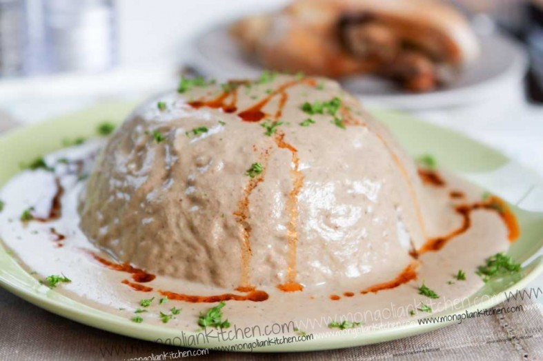 Circassian Chicken - Chicken Sharkaseya - walnut chicken