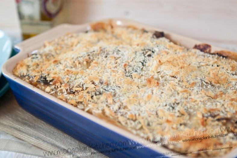 Aubergine & Pasta bake Recipe
