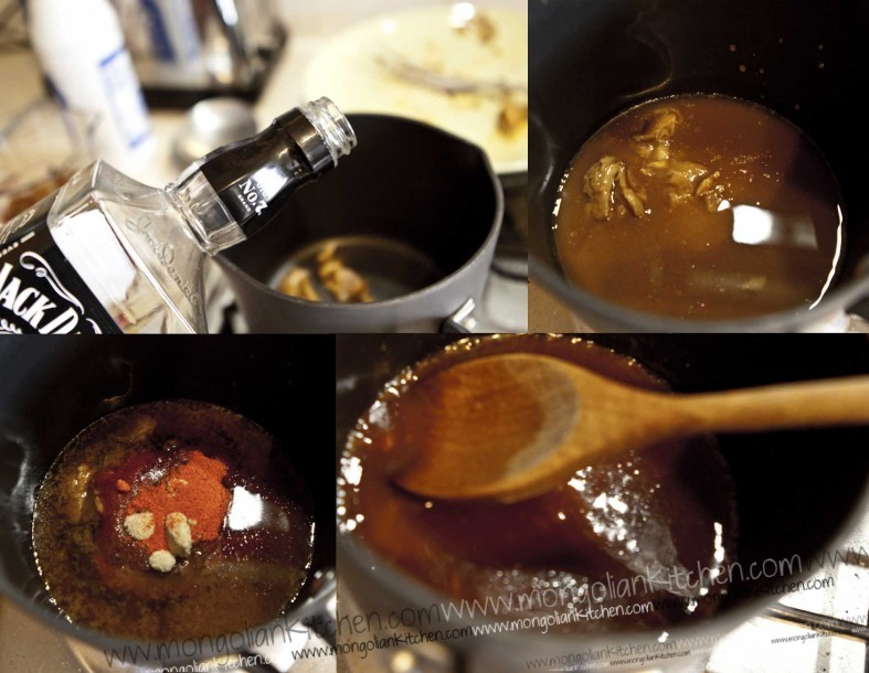 Prepare the Jack Daniels BBQ Sauce recipe for the pulled pork