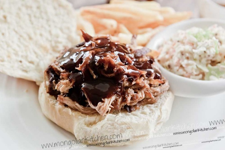 Delicious BBQ Pulled pork recipe with jack daniels sauce