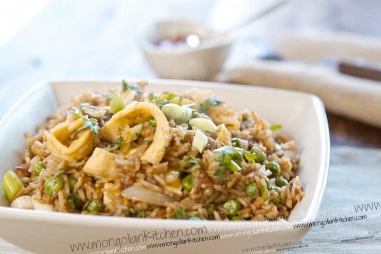 Nasi Goreng - Indonesian Fried Rice Recipe with prawns