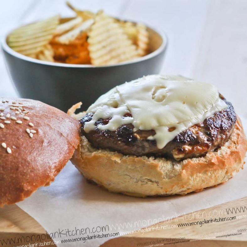 Prepare your egg burger in a brioche bun