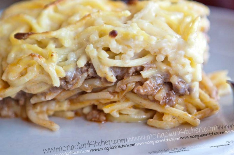 Pastitsio recipe - macaroni with bechamel and ground beef