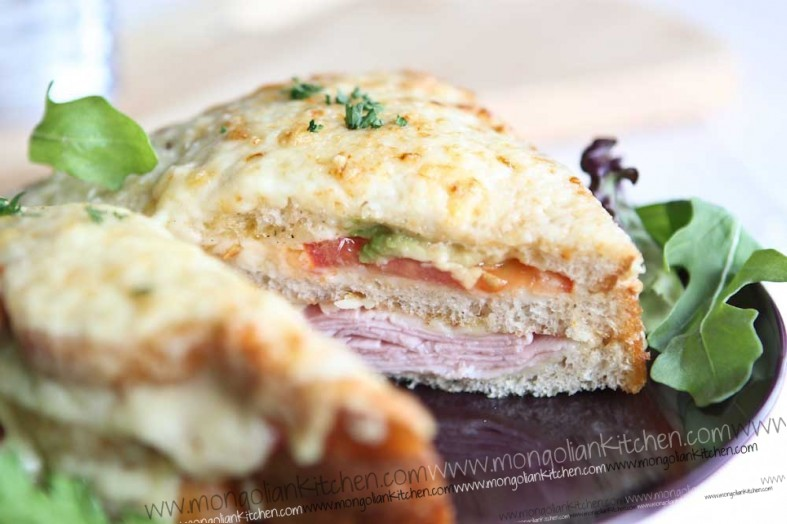 Avodado and Tomato Croque Monsieur  recipe