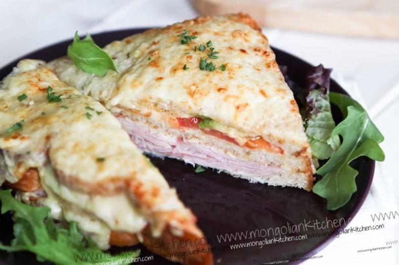 Avocado and Tomato Croque Monsieur  recipe
