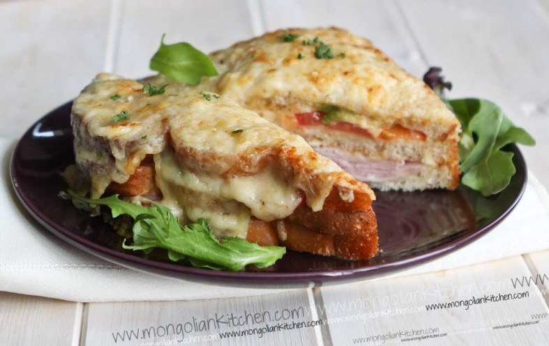 Avocado and Tomato Croque Monsieur  recipe