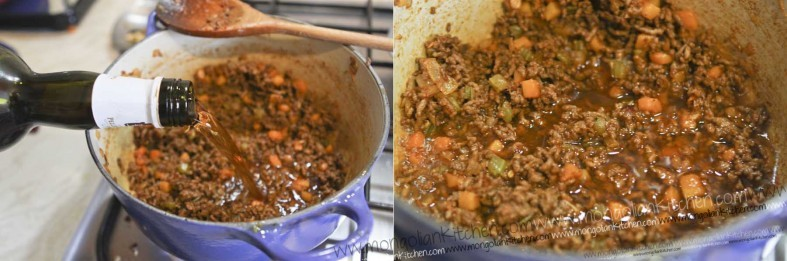 add marsala to the beef bolognese sauce