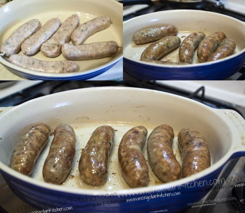 cook the sausages for the toad in the hole recipe