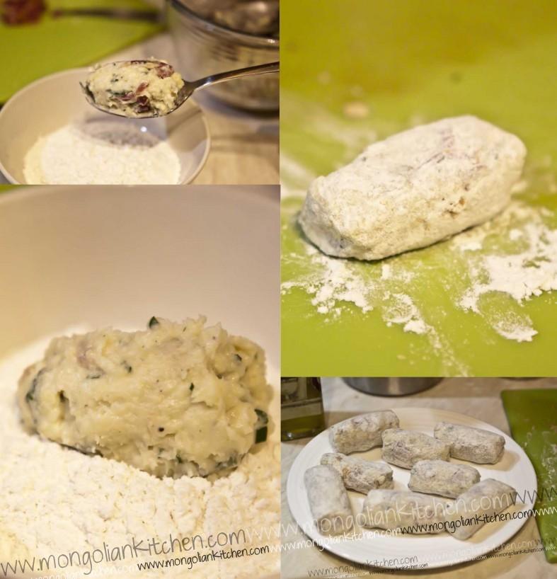 shape the ham croquettas ham croquettes recipe