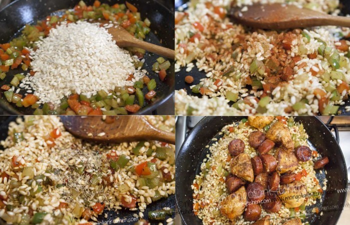 Add passata and beef stock for jambalaya recipe